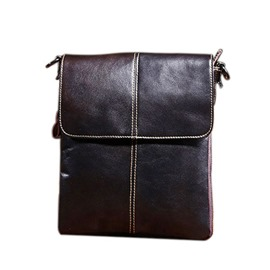 Ericdress Thread Plain PU Men's Shoulder Bags