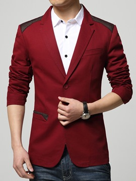 Ericdress Notched Lapel Patched Two Buttons Slim Men's Blazer