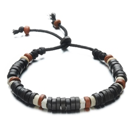 Handmade Clay Beads Men's Bracelet