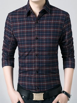 Ericdress Plaid Thicken Warm Men's Shirt