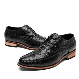 Ericdress Croco Lace up Men's Oxfords