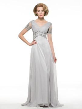 Ericdress Elegant Short Sleeves A Line Mother Of The Bride Dress