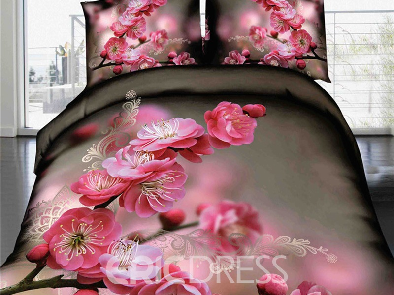 Ericdress Early Spring Plum Blossom 3D Bedding Sets 11608042