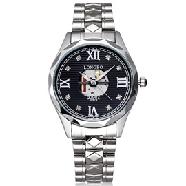 Ericdress Hollow Roman Numerals Scale Men's Watch