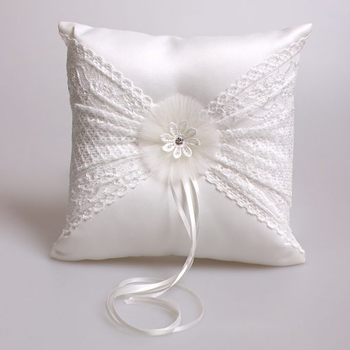 Ericdress Beautiful Lace Ring Pillow