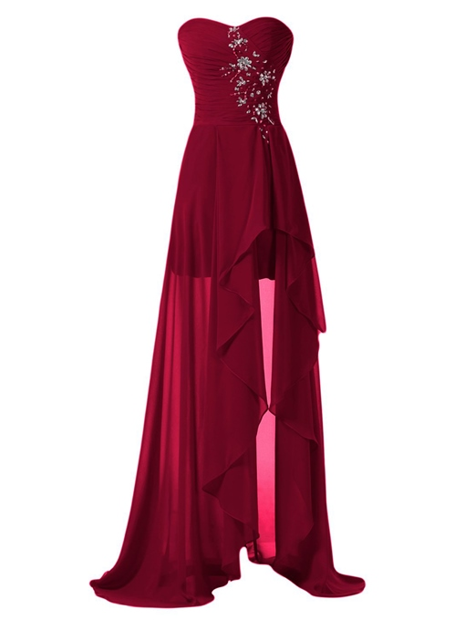 Ericdress Beading Sweetheart Asymmetry Bridesmaid Dress