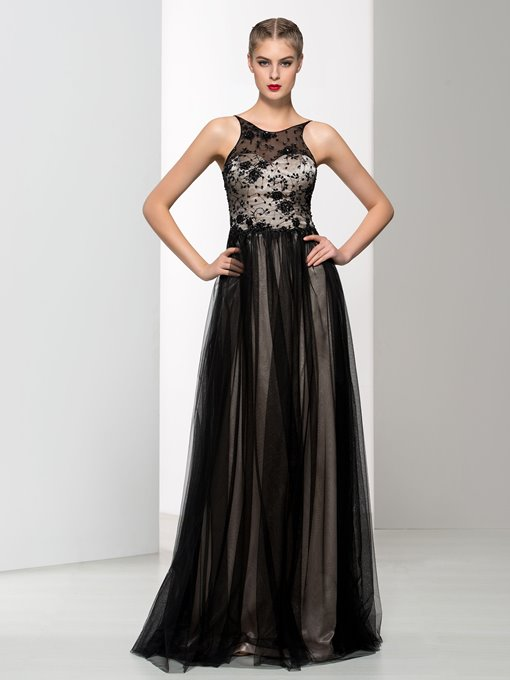 Ericdress Spaghetti Straps Beading Backless Lace Prom Dress