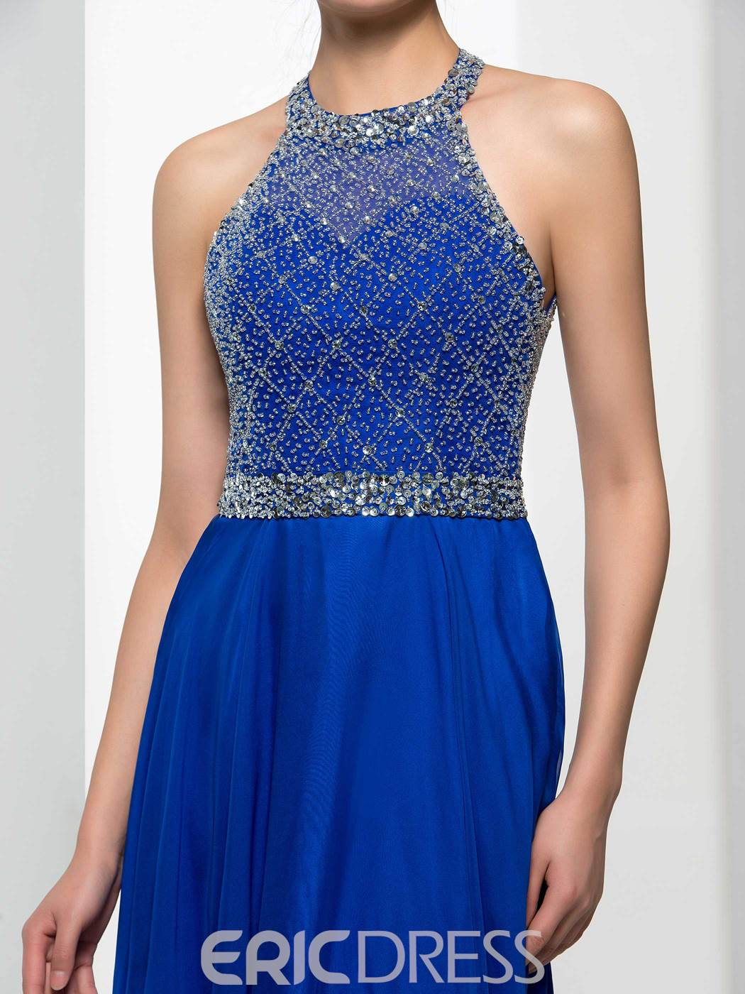 Ericdress Halter perles Sequins Prom Backless Dres