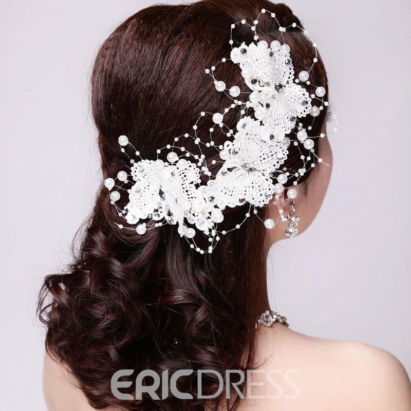 Ericdress Brautiful Butterfly Hair Flower