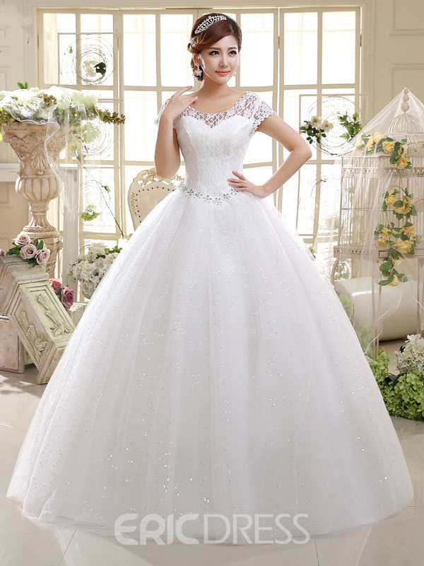 Ericdress Charming Lace Ball Gown Wedding Dress