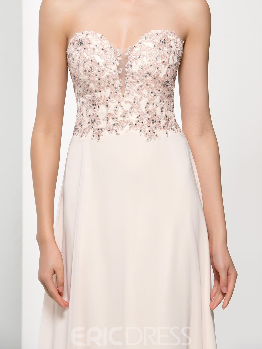 Ericdress Sweetheart Appliques Beading Hollow Prom Dress