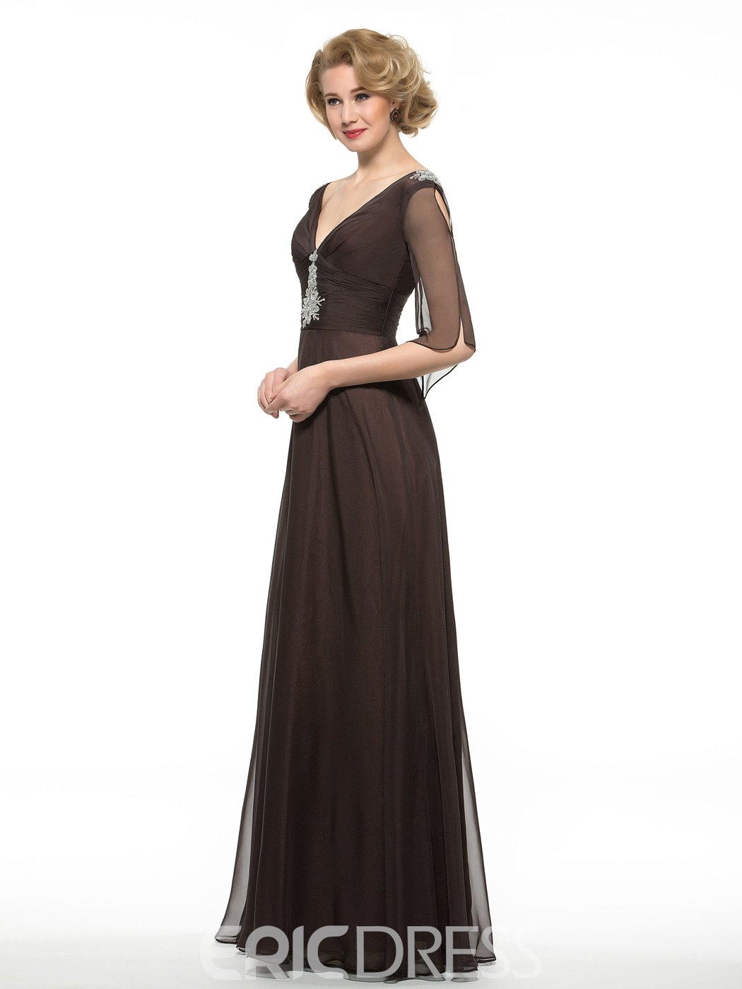 Ericdress V Neck A Line Mother Of The Bride Dress