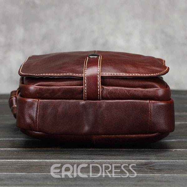 Ericdress Patchwork PU Plain Square Men's Shoulder Bags