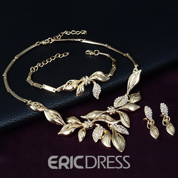 Ericdress Dazzling Alloy Leaf Jewelry Set