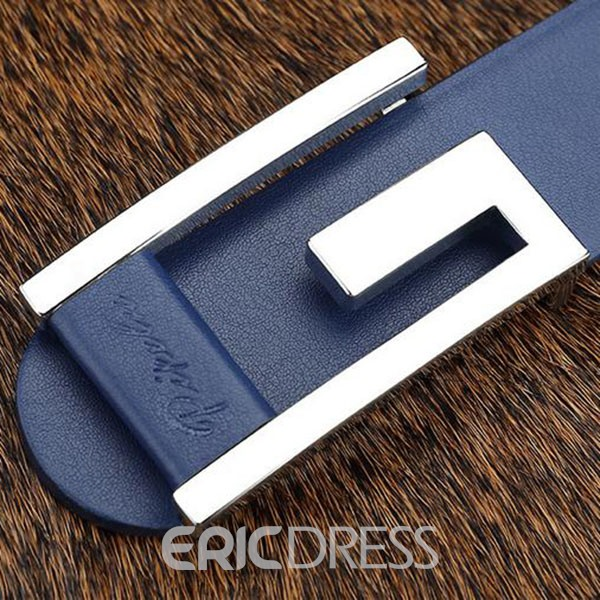 Ericdress Classic Pattern Letter Buckle Men's Belt