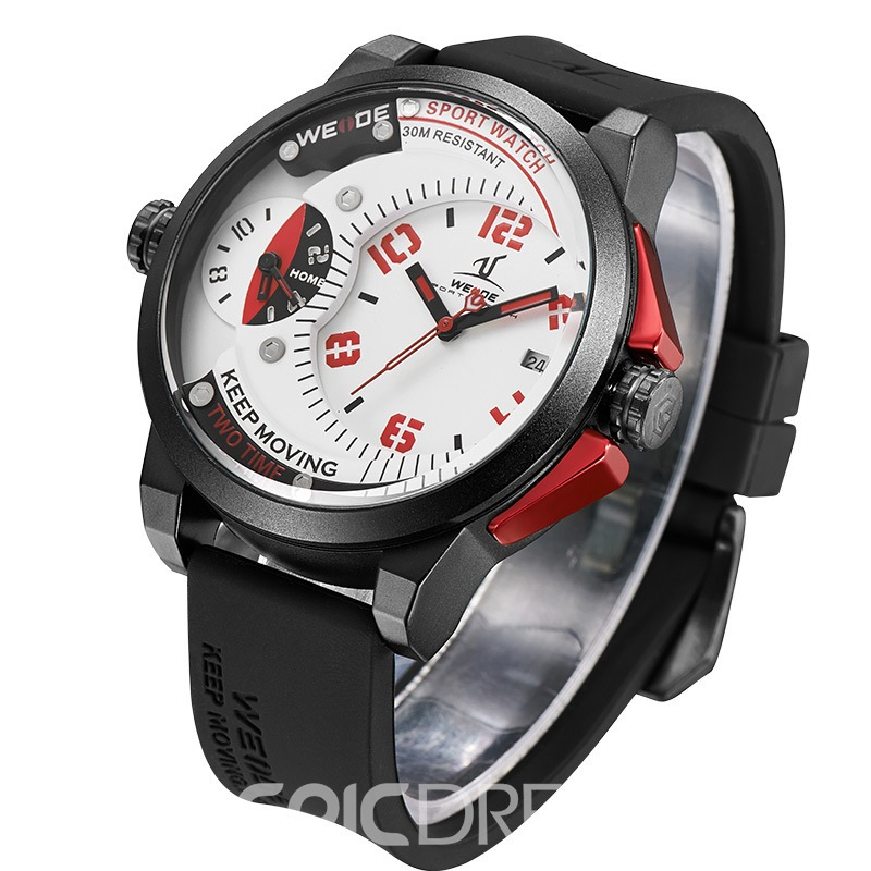 Ericdress JYY Double Dial Silicone Belt Concept Watch