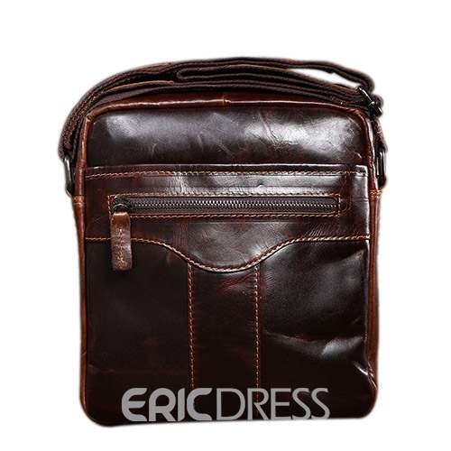 Ericdress Thread Plain PU Square Men's Shoulder Bags