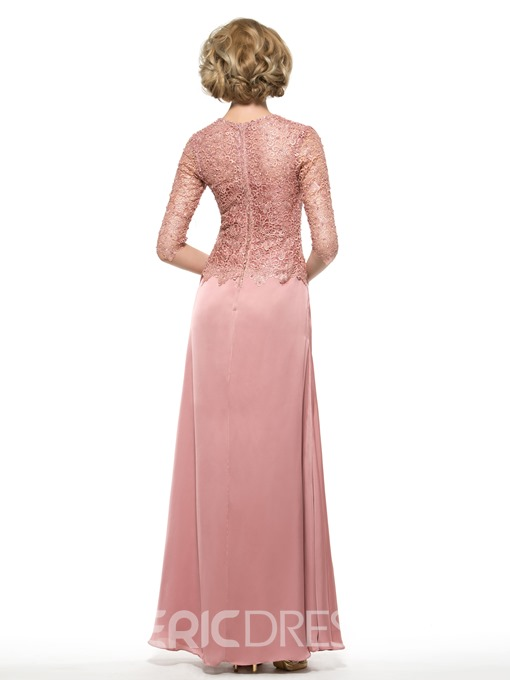 Ericdress Elegant Half Sleeves Lace Mother Of The Bride Dress