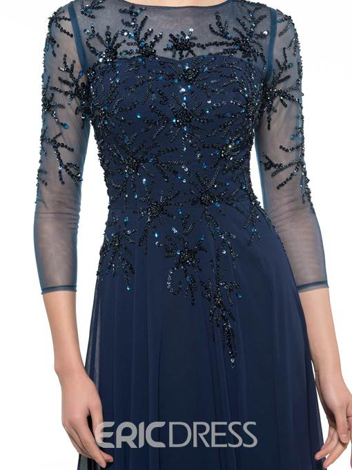Ericdress Beading 3/4 Length Sleeves Mother Of The Bride Dress