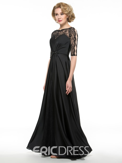 Ericdress Elegant A Line Lace Half Sleeves Mother Of The Bride Dress