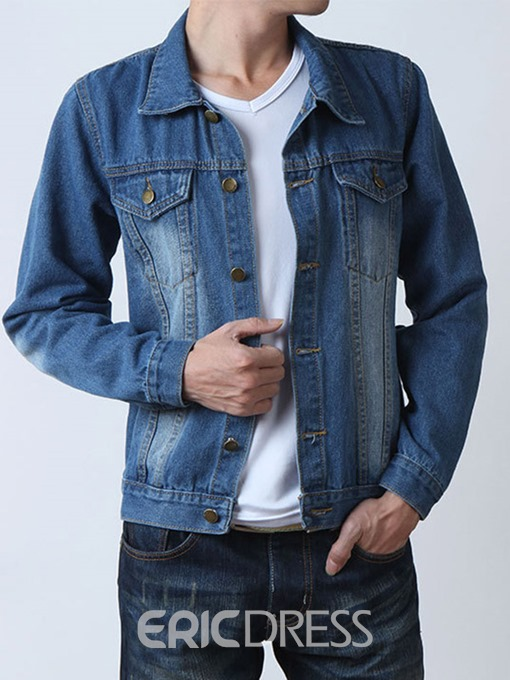 Ericdress Pocket Casual Men's Denim Jacket