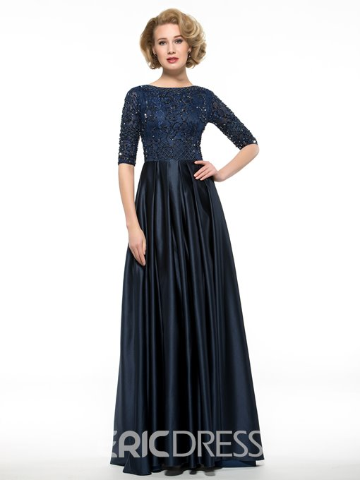 Ericdress Elegant Half Sleeves Lace A Line Mother Of The Bride Dress