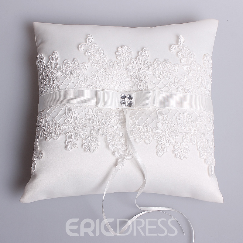 Ericdress Beautiful Appliques Ring Pillow