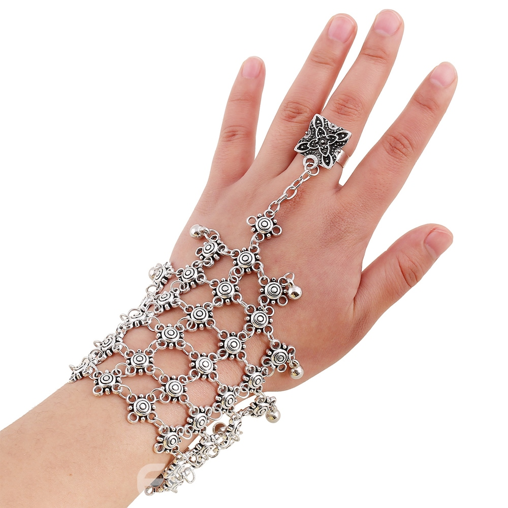 Ericdress Vintage Alloy Bracelet With Ring