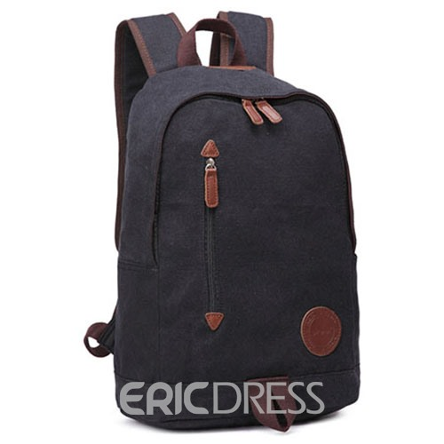Ericdress Belt Decorated Canvas Backpack For Men