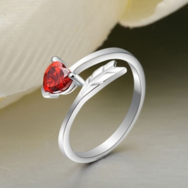 Ericdress Love At First Sight Garnet Ring