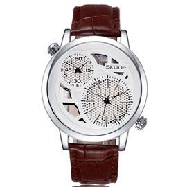 Ericdress personalidad doble Dial Watch de Men