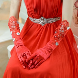 Ericdress High Quality Red Wedding Gloves