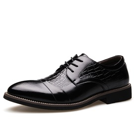 ericdress croco point toe herren oxfords