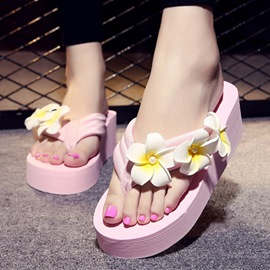 Ericdress Lovely Summer Beach Flower Slippers