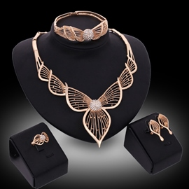 Ericdress Hollow Leaf Banquet Jewelry Set