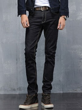 Ericdress Black Stretch Slim Men's Jeans