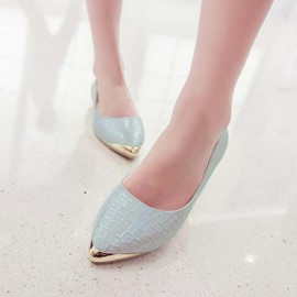 Ericdress Metal Decorated Point Toe Flats