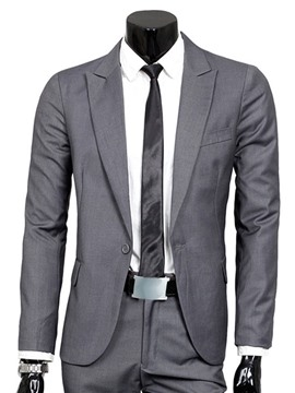 Ericdress Plain Slim One Button Men's Casual Suit