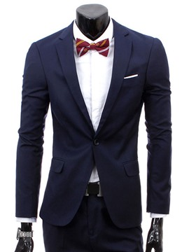 Ericdress Plain Slim Men's Casual Suit