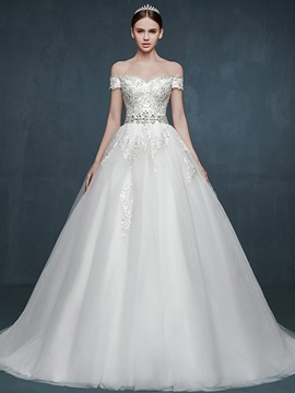 Ericdress Charming Appliques Beaded Sweetheart A Line Wedding Dress