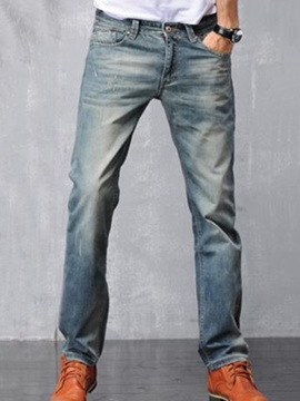 Ericdress Worn Denim Loose Men's Jeans