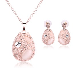 Ericdress Elliptic Opal Jewelry Set