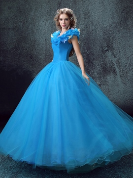 Ericdress Dramatic Appliques Ball Quinceanera Dress With Lace-Up Back