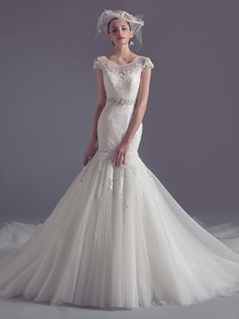 Ericdress Fancy Scoop Lace Mermaid Wedding Dress