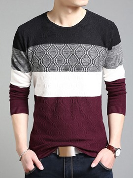 Ericdress Warm Pullover Slim Men's Sweater