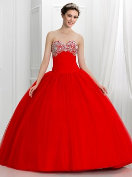 ericdress schatz wulstige lace-up quinceanera kleid