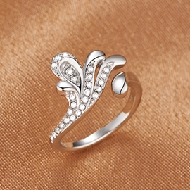 Ericdress Temperament Diamond Peacock Ring