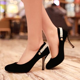 Ericdress Simple Suede High Heel Pumps