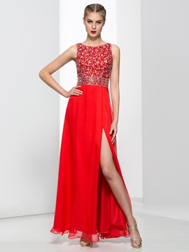 Ericdress Modern Straps Sequins Beading Hollow Prom Dress