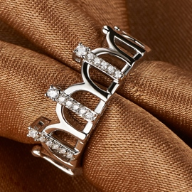 Ericdress Vintage Platinum Plated Crown Ring